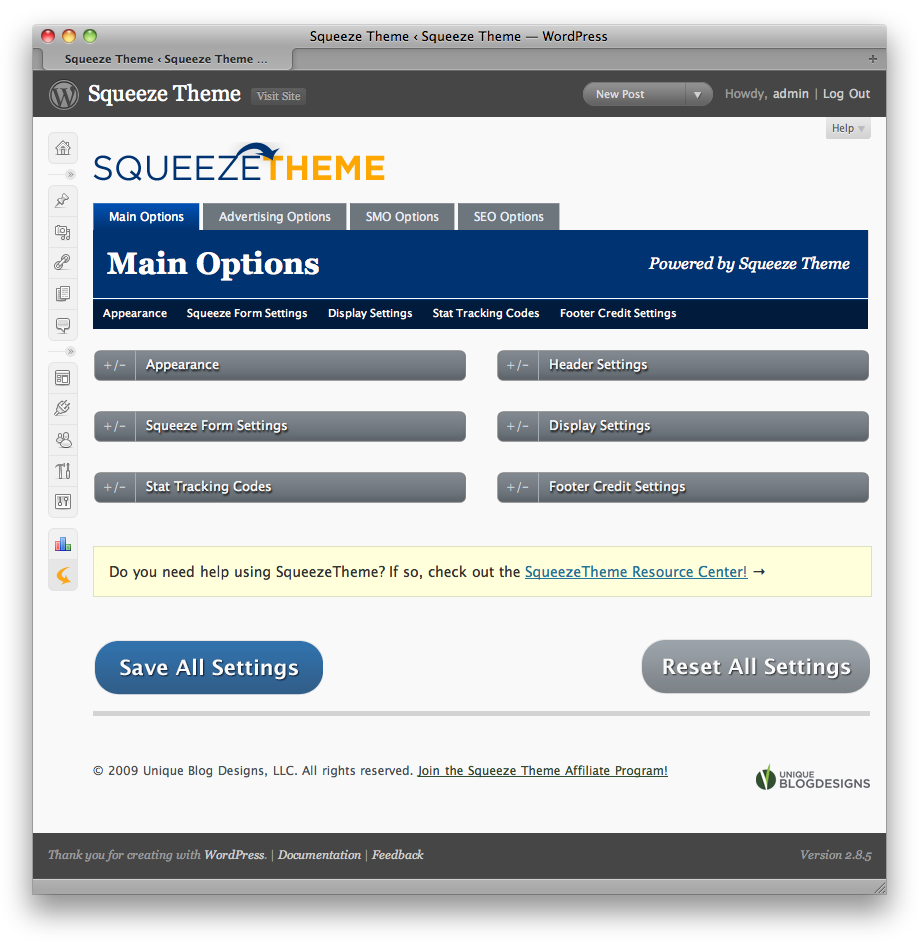 main options Make Affiliate Landing Squeeze Pages Wordpress